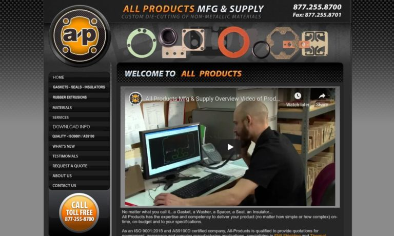 All Products Gasket Manufacturing Company, Inc.