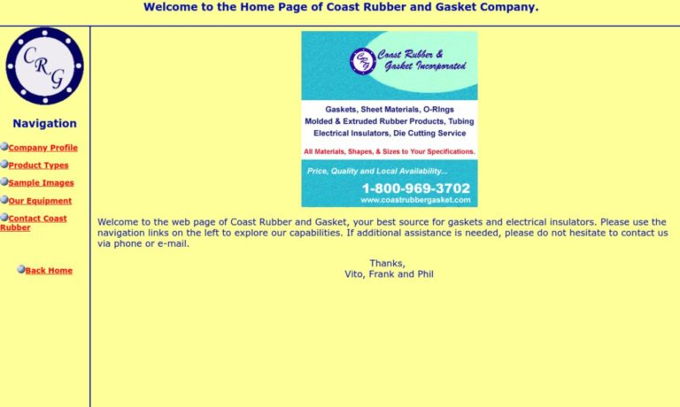 Coast Rubber & Gasket, Inc.