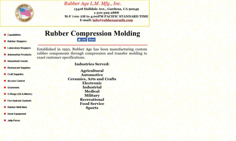 Rubber Age L.M. Mfg., Inc.
